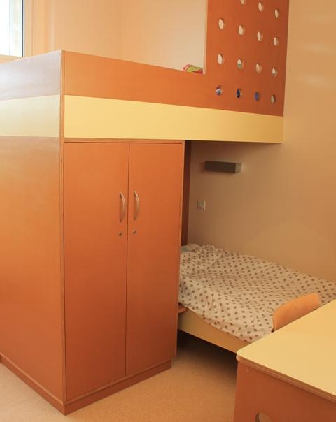 lit superposé permettant une plus grande intimité
